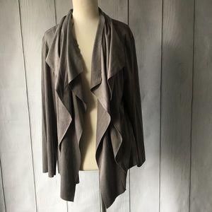 Catherine Malandrino Faux Leather Waterfall Jacket